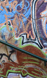 Graffiti. On wall, multi colored spray Royalty Free Stock Image