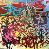 Graffiti. A wall of colorful graffiti Royalty Free Stock Photography