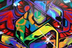 Graffiti. Urban graffiti wall in primary colors Royalty Free Stock Photo