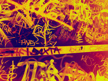 Graffiti. Colorful graffiti on a wall Stock Photos