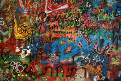 Graffiti. On the Lennon Wall Royalty Free Stock Images