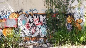 Graffiti. On an abandoned building royalty free stock images