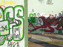 Graffiti on Abandoned Building Royalty Free Stock Images