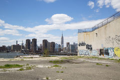 Graffiti at abandoned building in Greenpoint, Brooklyn Stock Photography