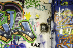 Graffiti in abandoned building Royalty Free Stock Photos