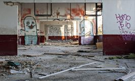 graffiti in abandoned building Stock Photography