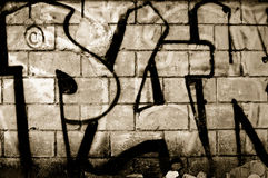 Graffiti. The abstract background from the grunge wall Stock Images