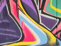 Graffiti. Abstract close up of some colorful graffiti royalty free stock photography