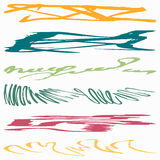 Graffiti abstract color lines. Vector eps 10 Stock Image