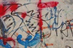Graffiti. Abstract graffiti. Fragment. Background Stock Photos