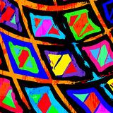 Graffiti abstract geometric objects on a black background Royalty Free Stock Images