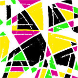 Graffiti abstract geometric pattern on a white background. (vector eps 10 Royalty Free Stock Photo