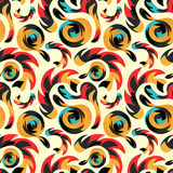 Graffiti abstract seamless pattern grunge effect vector illustration Stock Photos