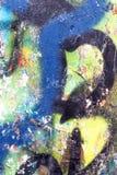 Graffiti Abstracte Creatieve Kleur Als achtergrond Stock Afbeeldingen