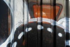 Graffiti abstrait sur le mur de bâtiment images libres de droits