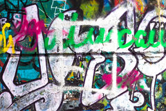 Graffiti-abstrakte kreative Hintergrund-Farbe Stockbilder
