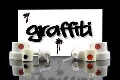 Graffiti - adreskaartje voor kunstenaar Stock Afbeelding