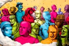 Graffiti al festival urbano della coltura Immagine Stock Libera da Diritti