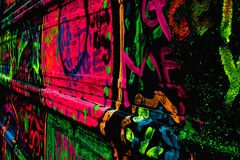 Graffiti al neon Immagini Stock