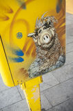 Graffiti of ALF on mailbox Royalty Free Stock Photography