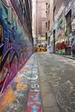 Graffiti Alley. Alley covered in graffiti.  Great street art Royalty Free Stock Photo