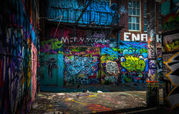In the Graffiti Alley, Baltimore royalty free stock photo