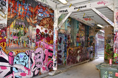Graffiti alley. Detail of the Graffiti Alley in the street of Melbourne, Australia royalty free stock images