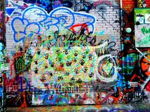 Graffiti. Alley rapid city south dakota Royalty Free Stock Photo