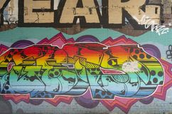 Toronto`s Graffiti Alley 34. Graffiti Alley,Toronto, Ontario Canada September 16, 2018: Graffiti Alley is located in the fashion district of Toronto and is a stock photography