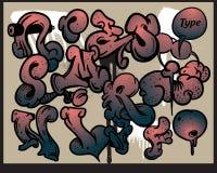 Graffiti alphabet elements Royalty Free Stock Photos