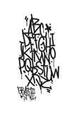 Graffiti alphabet. Letters of the alphabet written with a cans Royalty Free Stock Photography