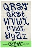 Graffiti alphabet Royalty Free Stock Photo