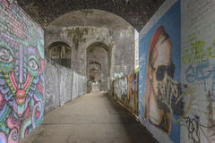 Graffiti Arches in Digbeth, Birmingham royalty free stock photos