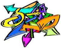 Graffiti arrows element Stock Image
