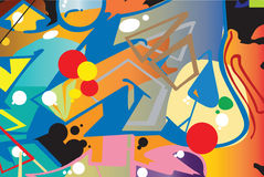 Graffiti art. This is a digital paint like a graffiti Royalty Free Stock Photos