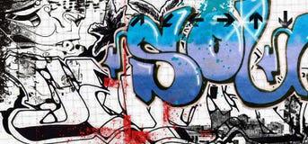 Graffiti art. Background in urban graffiti  style Stock Images