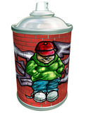 Graffiti art aerosol can. Isolated illustration of a graffiti artist spray can Royalty Free Stock Photos