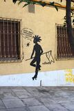 Graffiti art in Athens, Greece royalty free stock images