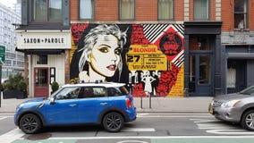 Graffiti on streets, New York City, NY. Graffiti art on building on streets of New York City, NY Stock Images