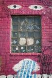 Graffiti art building window Stock Images