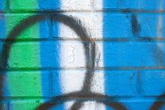 Graffiti Art Covers Brick Wall Stock Images
