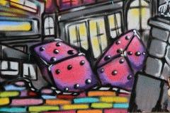 Graffiti - art de rue Photographie stock