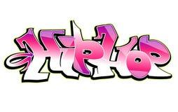 Graffiti art  design, hip-hop. Graffiti text art design  illustration on white Royalty Free Stock Photography