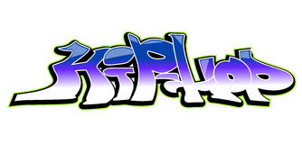 Graffiti art  design, hip-hop Stock Image