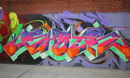 Graffiti art at East Williamsburg in Brooklyn Stock Images