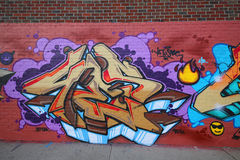 Graffiti art at East Williamsburg in Brooklyn Royalty Free Stock Photos