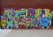 Graffiti art at East Williamsburg in Brooklyn Royalty Free Stock Image