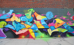 Graffiti art at East Williamsburg in Brooklyn Stock Photo
