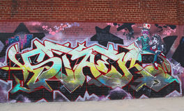 Graffiti art at East Williamsburg in Brooklyn Royalty Free Stock Images