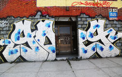 Graffiti art at East Williamsburg in Brooklyn Stock Photography